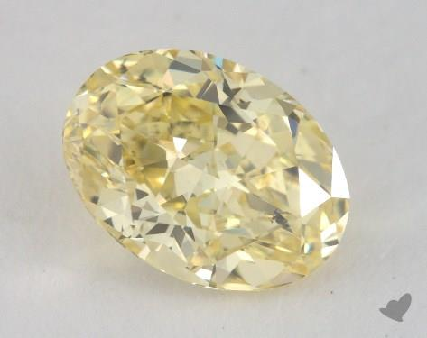 1.51 Carat fancy intense yellow-SI2 Oval Cut Diamond
