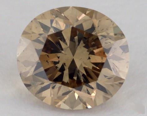 1.57 Carat fancy yellow-SI2 Oval Cut Diamond
