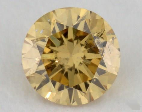 0.30 Carat fancy intense orange yellow-I1 Round Cut Diamond