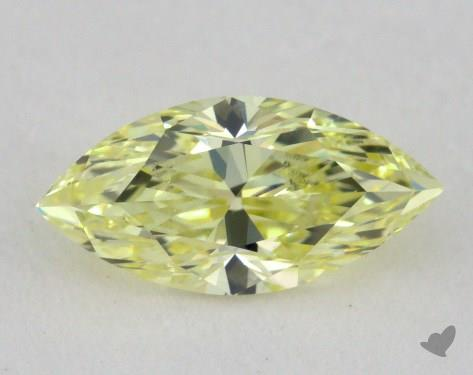 0.51 Carat fancy yellow-VS1 Marquise Cut Diamond