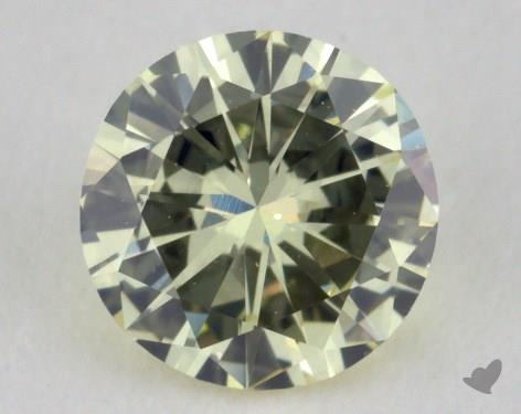 0.52 Carat light yellow-SI1 Round Cut Diamond