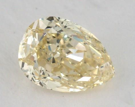 1.50 Carat fancy yellow-SI2 Pear Shape Diamond