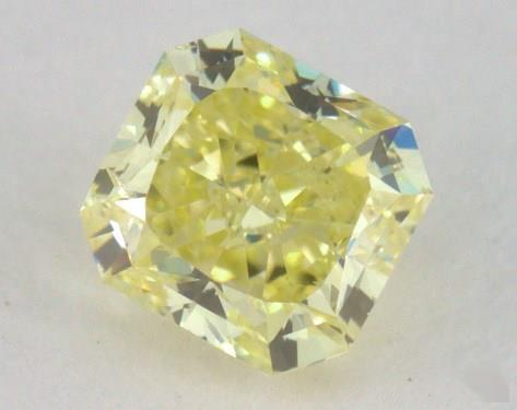0.52 Carat fancy intense yellow-SI2 Radiant Cut Diamond