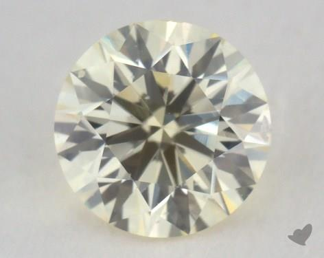 0.74 Carat light yellow-VS2 Round Cut Diamond