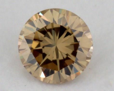 0.16 Carat fancy brownish yellow-VS2 Round Cut  Diamond
