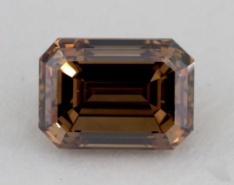 1.35 Carat fancy dark orangy brown-SI1 Emerald Cut Diamond