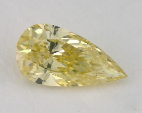 0.63 Carat fancy intense yellow-SI2 Pear Shape Diamond