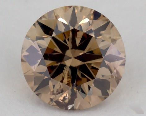 1.60 Carat fancy orange brown-I1 Round Cut Diamond