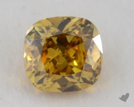 0.36 Carat fancy deep brownish yellow-SI1 Cushion Cut Diamond