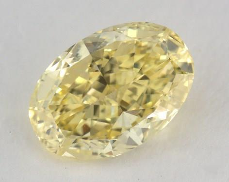 2.29 Carat fancy intense yellow-VVS2 Oval Cut Diamond