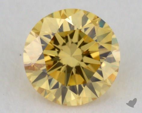 0.24 Carat fancy vivid yellow-SI2 Round Cut Diamond