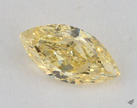0.66 Carat fancy yellow-SI1 Marquise Cut Diamond