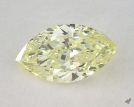 0.50 Carat fancy light yellow-VS1 Marquise Cut Diamond