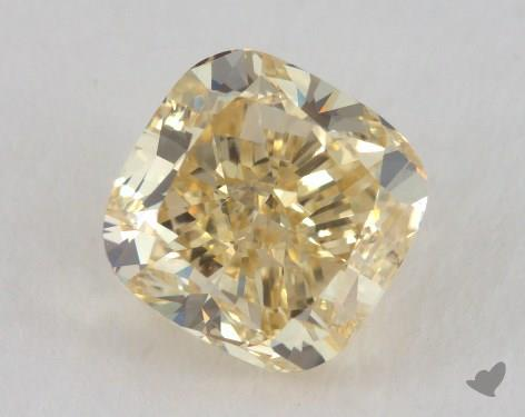 1.73 Carat fancy yellow-VS2 Cushion Cut Diamond