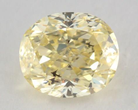 1.64 Carat fancy yellow-SI2 Oval Cut Diamond
