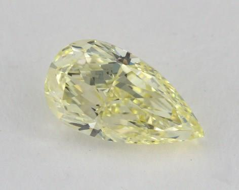 1.73 Carat fancy yellow-VS2 Pear Shaped  Diamond