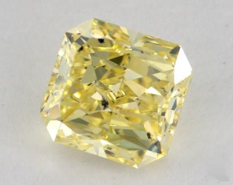 2.03 Carat fancy intense yellow-SI2 Radiant Cut Diamond