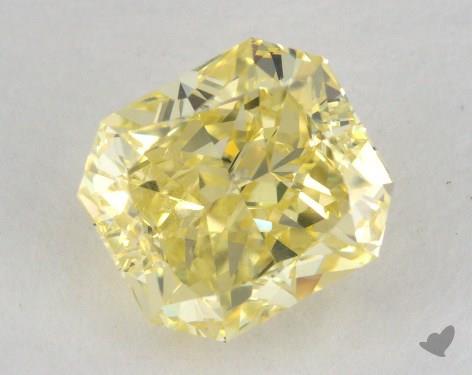 2.04 Carat fancy intense yellow-SI2 Radiant Cut Diamond