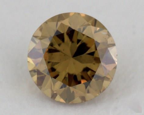 0.18 Carat fancy deep brownish greenish yellow-SI2 Round Cut  Diamond