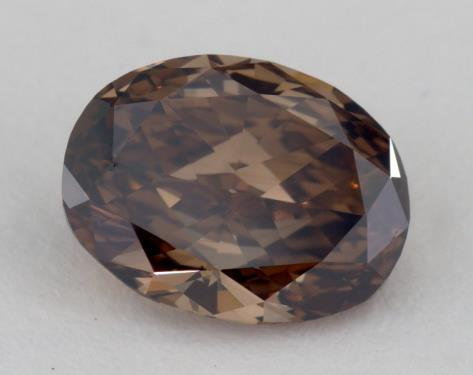 2.11 Carat fancy dark orangy brown-VS1 Oval Cut Diamond