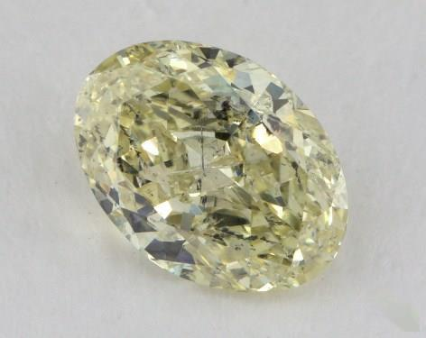 2.06 Carat fancy yellow-I1 Oval Cut  Diamond