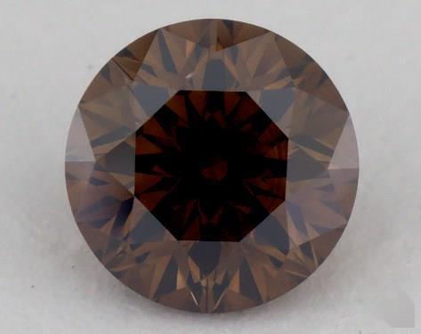 0.95 Carat fancy dark orangy brown-VS2 Round Cut Diamond