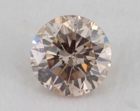 0.21 Carat light brown-I1 Round Cut Diamond