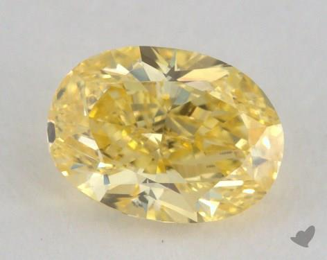 0.62 Carat fancy vivid yellow-SI1 Oval Cut Diamond