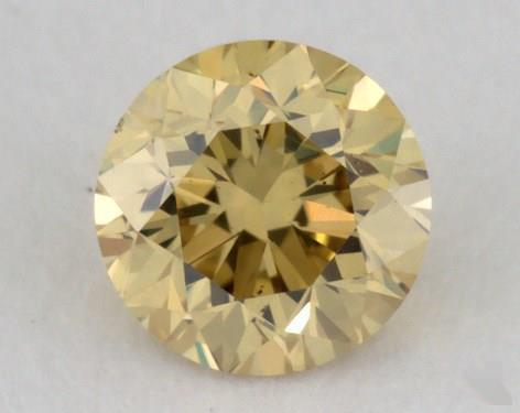 0.28 Carat fancy deep yellow-VS2 Round Cut  Diamond