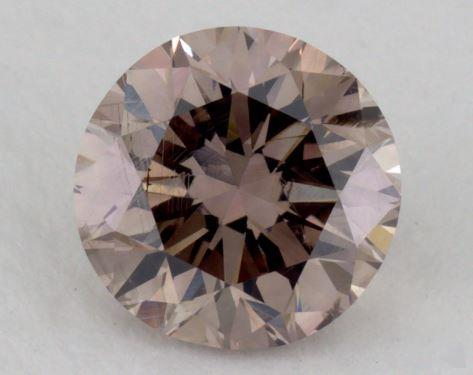 1.33 Carat fancy brown-I1 Round Cut Diamond