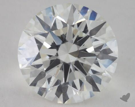 3.06 Carat I-SI1 Excellent Cut Round Diamond