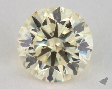 0.70 Carat light yellow-SI1 Round Cut Diamond