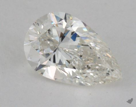 1.00 Carat H-SI1 Pear Cut Diamond