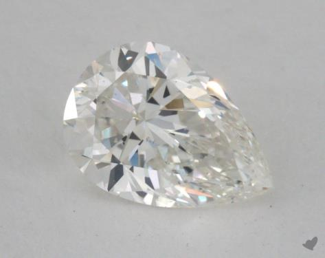 0.71 Carat H-SI1 Pear Cut Diamond