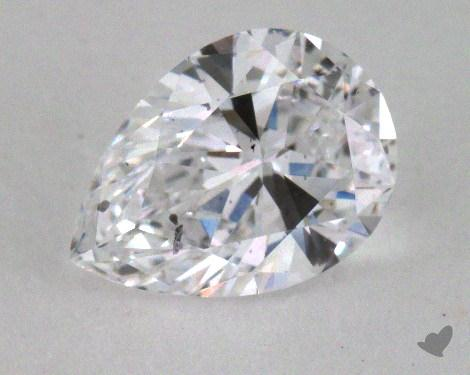 0.91 Carat D-SI2 Pear Shape Diamond