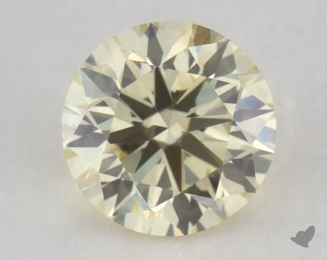 0.73 Carat light yellow-VS2 Round Cut  Diamond