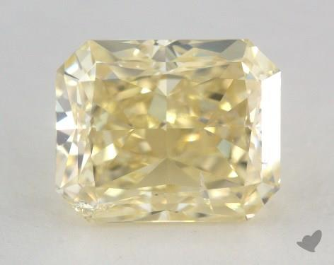 3.03 Carat fancy light yellow-SI2 Radiant Cut  Diamond