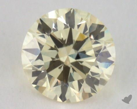 0.70 Carat light yellow-VS2 Round Cut Diamond