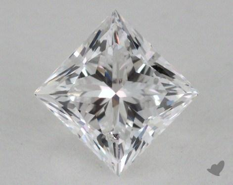 1.51 Carat D-SI2 Very Good Cut Princess Diamond