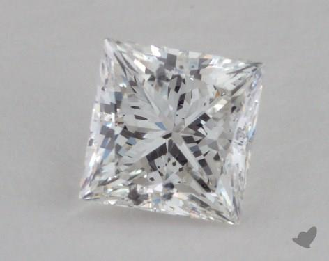 0.63 Carat F-I1 Very Good Cut Princess Diamond