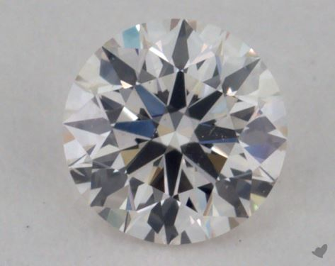 0.33 Carat H-SI2 Excellent Cut Round Diamond