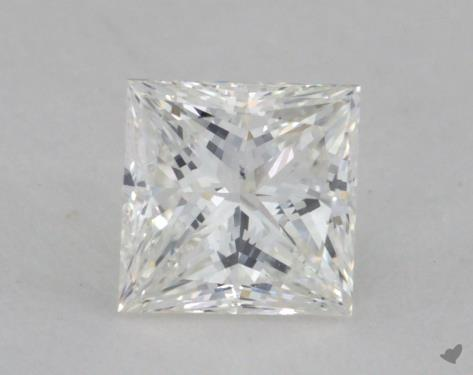 0.80 Carat H-SI1 Very Good Cut Princess Diamond