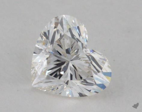 0.65 Carat H-VS2 Heart Cut Diamond