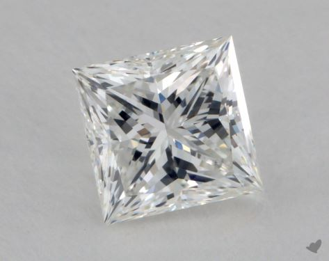 1.62 Carat F-VVS2 Ideal Cut Princess Diamond