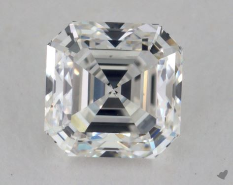 0.90 Carat G-VS2 Asscher Cut Diamond