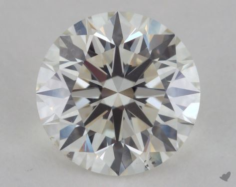 2.01 Carat I-SI1 Excellent Cut Round Diamond