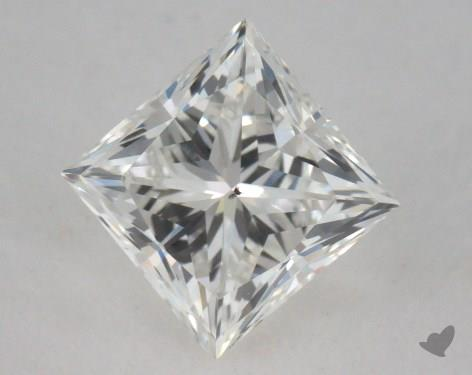 0.71 Carat H-SI1 Ideal Cut Princess Diamond