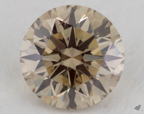 1.04 Carat light brown-I1 Round Cut Diamond