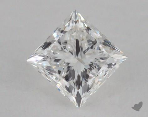 0.71 Carat F-SI1 Very Good Cut Princess Diamond