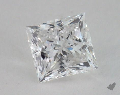 0.93 Carat E-SI1 Ideal Cut Princess Diamond